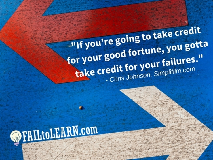 Chris Johnson - If you're going to take credit for your good fortune, you gotta take credit for your failures.